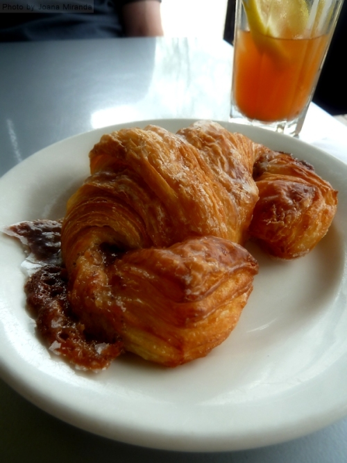 glazed almond hazelnut croissant at Mrs. London's