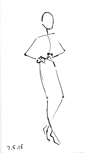 Stick figure fashion illustration