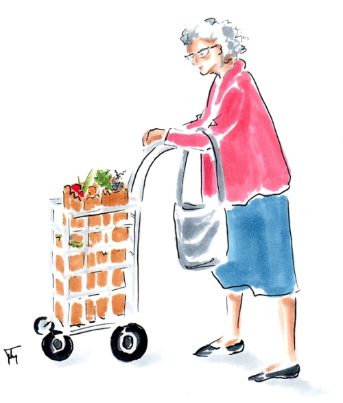 old lady shopping