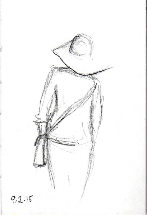 Lady in hat sketch