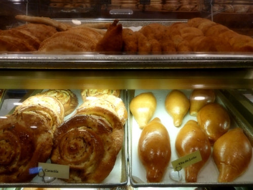Assorted pastries and breads at Teixera's bakery