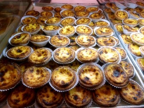 pasteis de nata at Teixera's Bakery