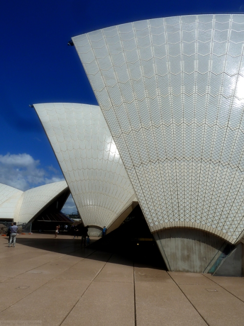 An interesting view of the Sydney Opera House