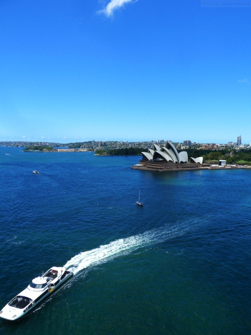 Far above the Sydney Opera House