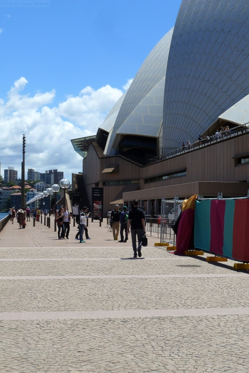 My husband on his way to work at the Sydney Opera House