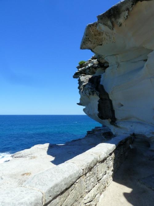 rocks on the coastal walk