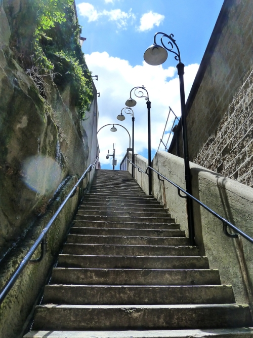 Stairway up to Sydney Harbor Bridge