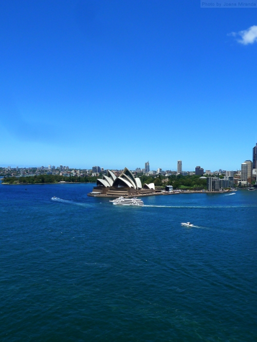 Sydney Opera House as seen from Sydney Harbor Bridge