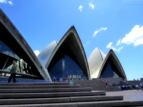 View from the grand staircase at the Sydney Opera House