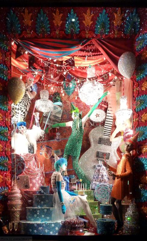 Glitterati 2015 holiday window at Bergdorf Goodman's