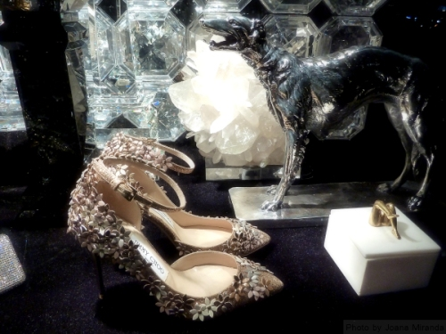 Jimmy Choos in 2015 Bergdorf Holiday Windows