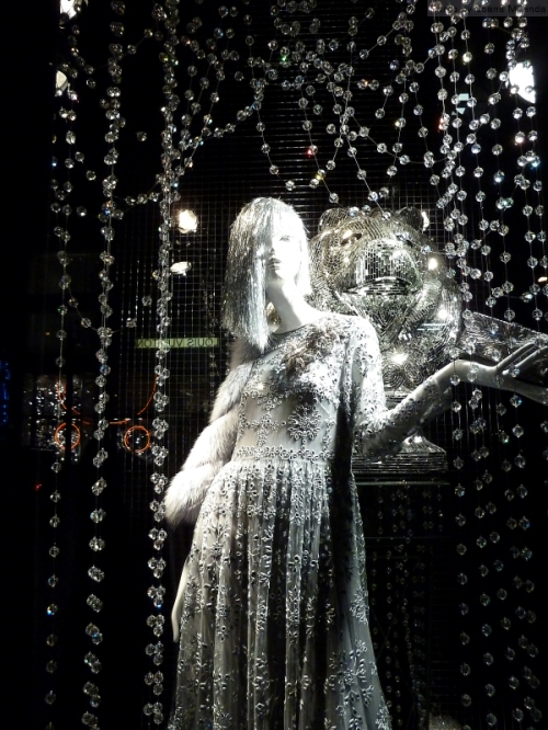 sparkly 2015 Bergdorf Goodman holiday window