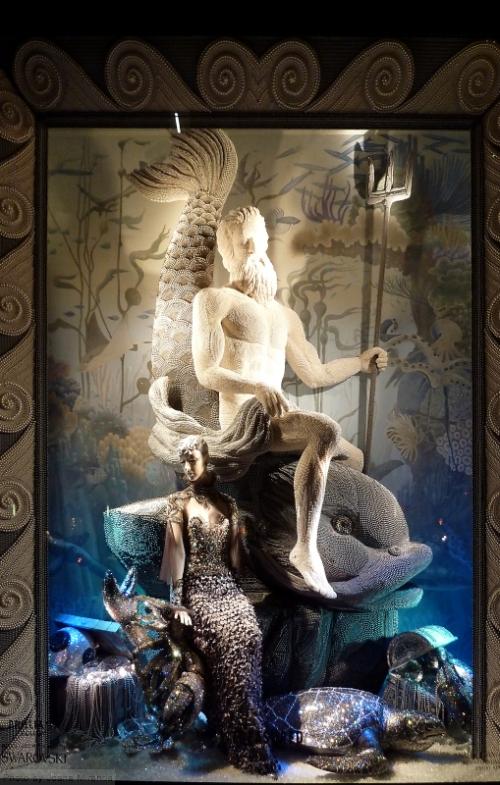 Treasured window at 2015 Bergdorf Goodman holiday window display