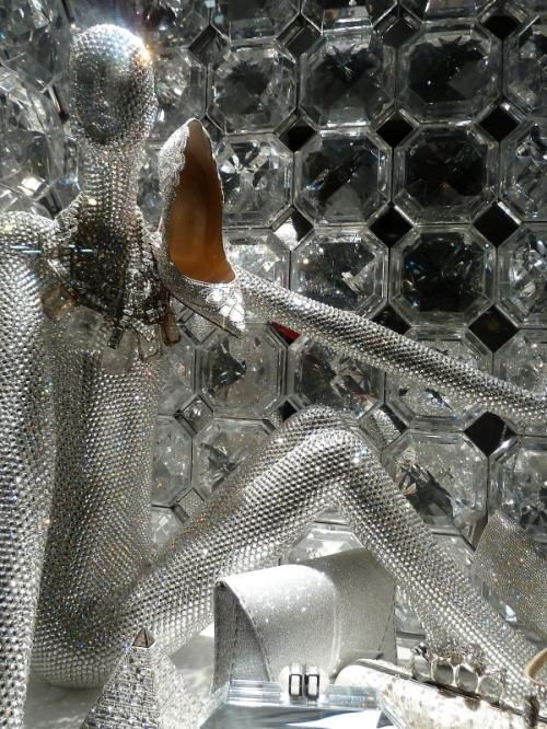 White hot window at 2015 Bergdorf Goodman holiday display