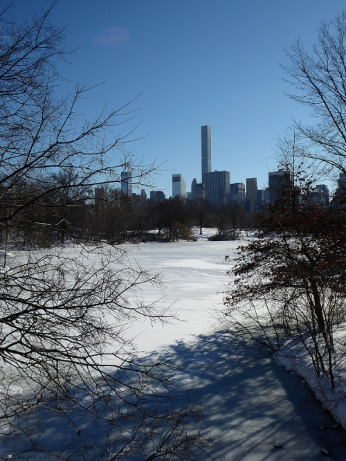 Photo of Manhattan as seen looking towards Central Park South