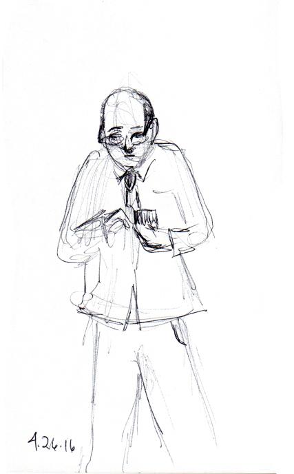 Anxious man looking at his cellphone