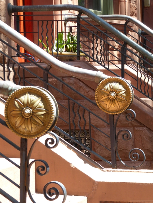 Medallions on Upper West Side railings