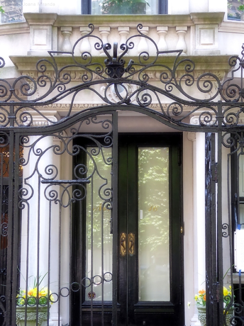 Ornate gate and doorway on the Upper West Side