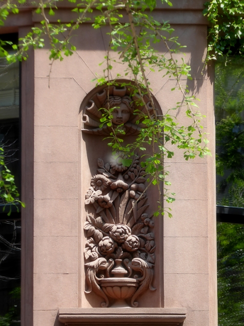 Wall carving on the Upper West Side
