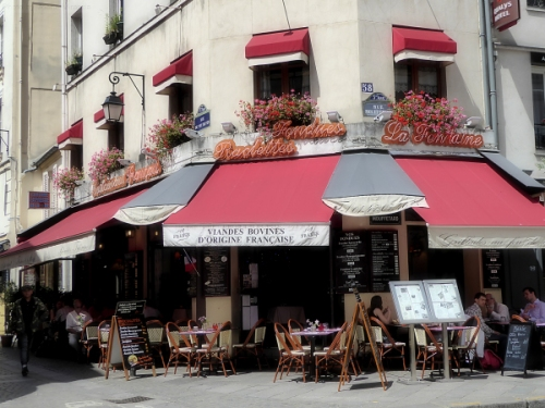 Corner restaurant cafe in the Latin Quarter