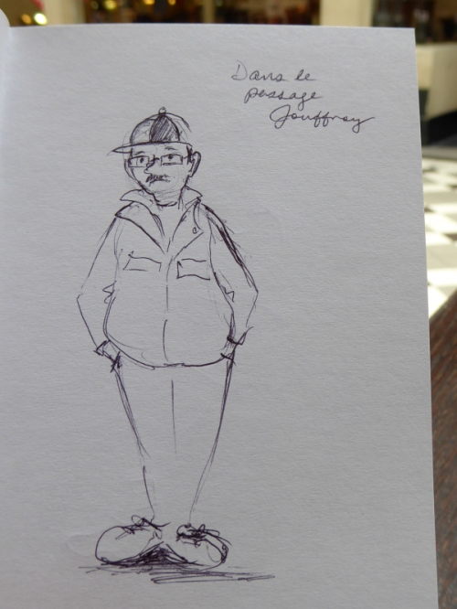 Dumpy man whimsical sketch