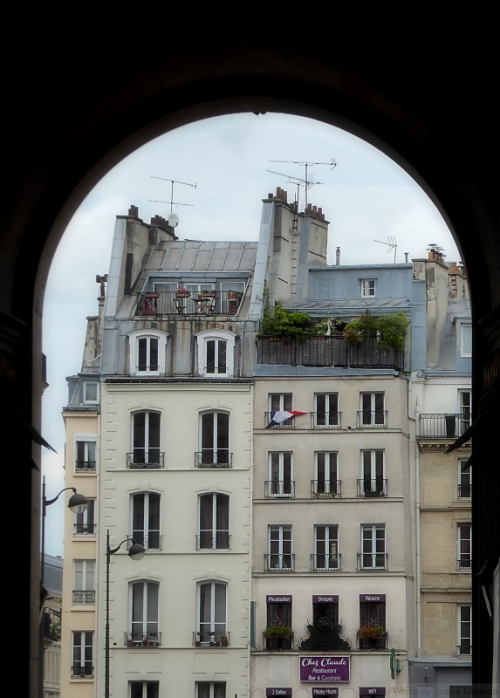 Paris through an arch