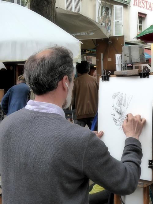 Artist at work in Montmartre