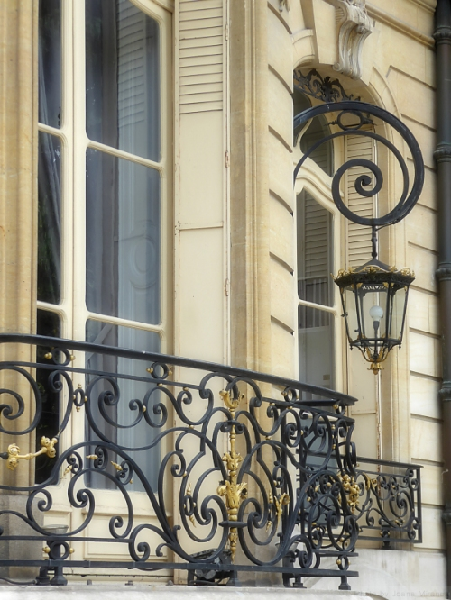 Ornate lantern on the Champs Elysees