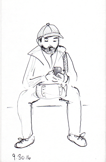 quick-sketch-of-man-with-beard-and-baseball-cap