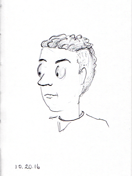 sketch-of-young-man-with-flat-top-hair-cut