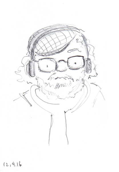 quick-ball-point-pen-sketch-of-man-with-cap-and-headphones