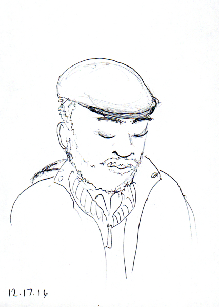 quick-sketch-of-man-with-cap-and-multiple-layers