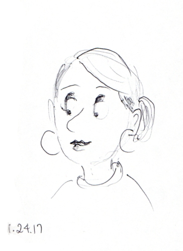 quick-cartoon-sketch-of-woman-with-hoop-earrings