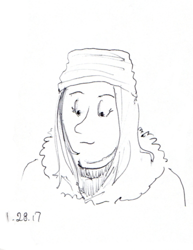 quick-cartoon-sketch-of-woman-with-knit-cap-and-long-hair