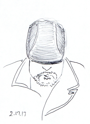 cartoon-of-seating-man-looking-down